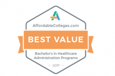 2017 Best Value Bachelor in Healthcare Administration