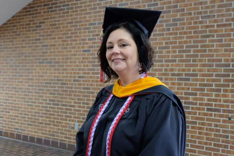 Tina Billberry, Master of Science in Nursing graduate, UL Lafayette Outstanding Master's Graduate
