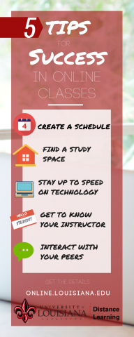 5 tips for success in online classes ul lafayette