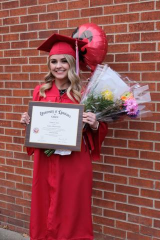 Bridgette Savoie completes her degree in General Studies
