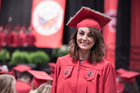Kailee Clinton-Marikar was among the University of Louisiana at Lafayette's first online General Studies graduates.